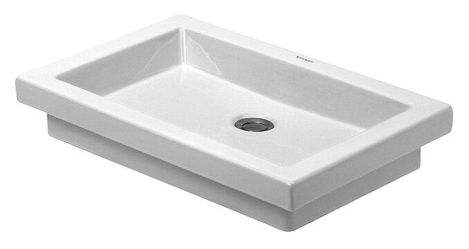 2nd Floor Ceramic Rectangular Vessel Bathroom Sink