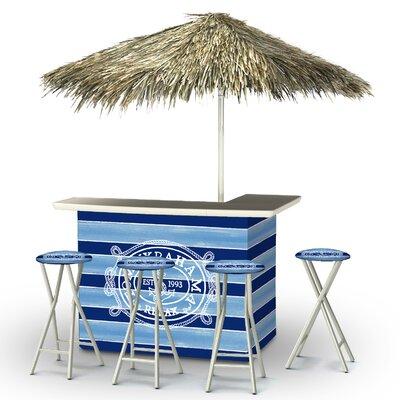 Blaise Tiki Bar Set by Rosecliff Heights Cheap