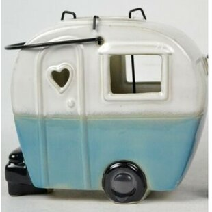 Reviews Retro Camper Ceramic Lantern By Loon Peak