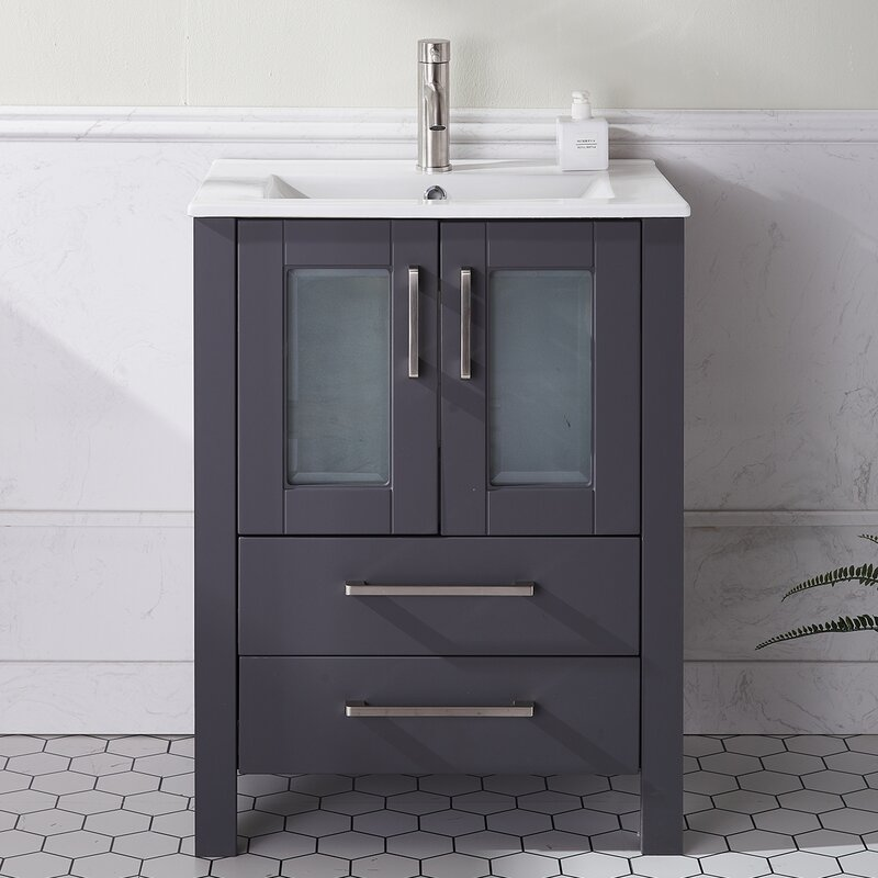 Latitude Run Azcuy 24 Single Bathroom Vanity Set Wayfair