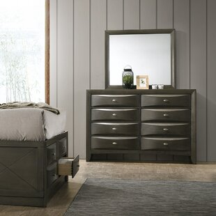Great deal Carle 8 Drawer Dresser with Mirror by Red Barrel Studio