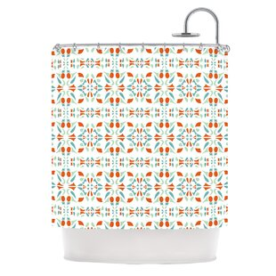 Compare Italian Kitchen Orange Shower Curtain By KESS InHouse