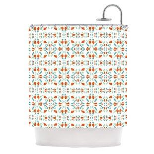 Italian Kitchen Orange Single Shower Curtain