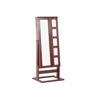 Remsen Free Standing Jewelry Armoire with Mirror by Red Barrel Studio
