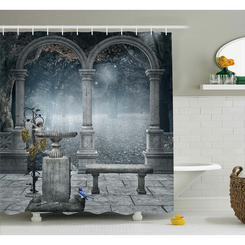 Gothic Fictional Mythic Stones Shower Curtain