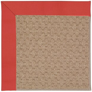 Lisle Machine Tufted Sunset Red Indoor/Outdoor Area Rug