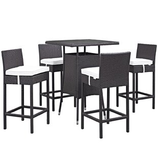 Latitude Run Ryele 5 Piece Frame Bar Height Dining Set