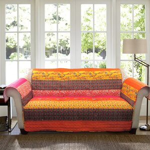 Somerton Box Cushion Sofa Slipcover by World Menagerie
