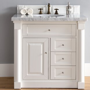 Maurice Traditional 36 Single Cottage White Bathroom Vanity Set by Alcott Hill