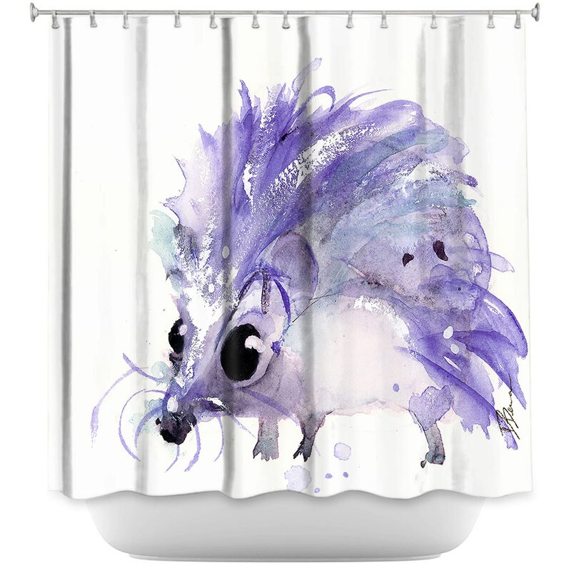East Urban Home Hedgehog Shower Curtain