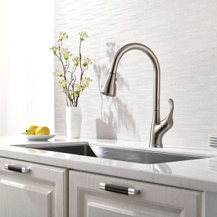 Appaso Pull Down Single Handle Kitchen Faucet Reviews Wayfair