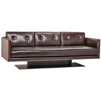 Sabah Leather Sofa Noir