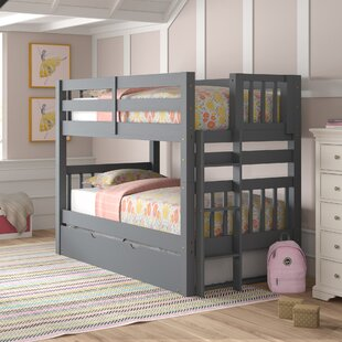 Price comparison Treva Twin over Twin Bunk Bed with Trundle by Harriet Bee Reviews (2019) & Buyer's Guide