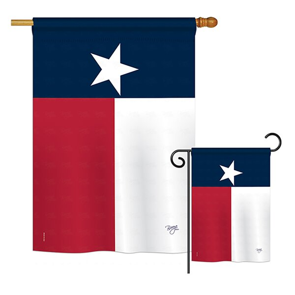 Breeze Decor 2 Piece Texas State Americana States Impressions Decorative Vertical 2 Sided Polyester Flag Set Wayfair
