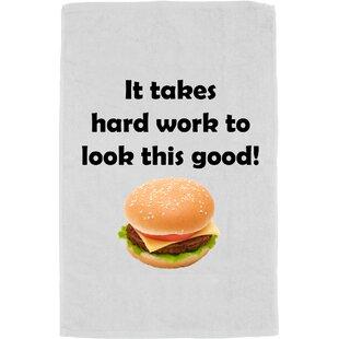 Big Save Personalized Hard Work 100% Cotton Bath Towel ByR&R Textile Mills Inc