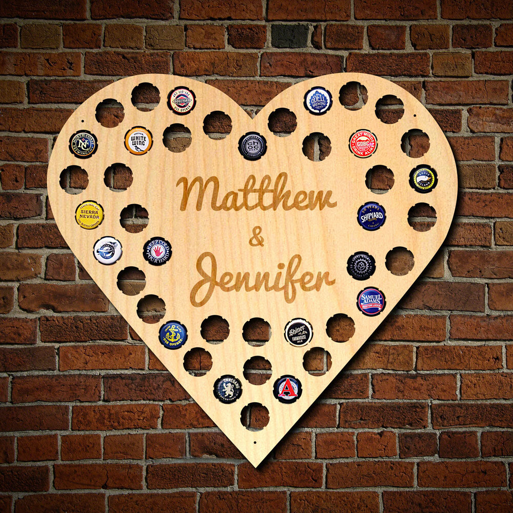 Home Wet Bar Love For Beer Personalized Beer Cap Map Wall Décor ...