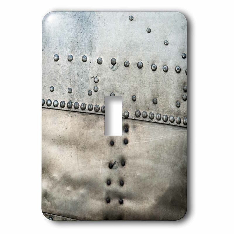 3drose Grunge Body Of An Airplane Rivets And Seams 1 Gang Toggle Light Switch Wall Plate Wayfair