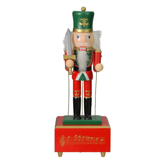 Christmas Nutcracker.Decorative Wooden Animated And Musical Christmas Nutcracker Guard Soldier