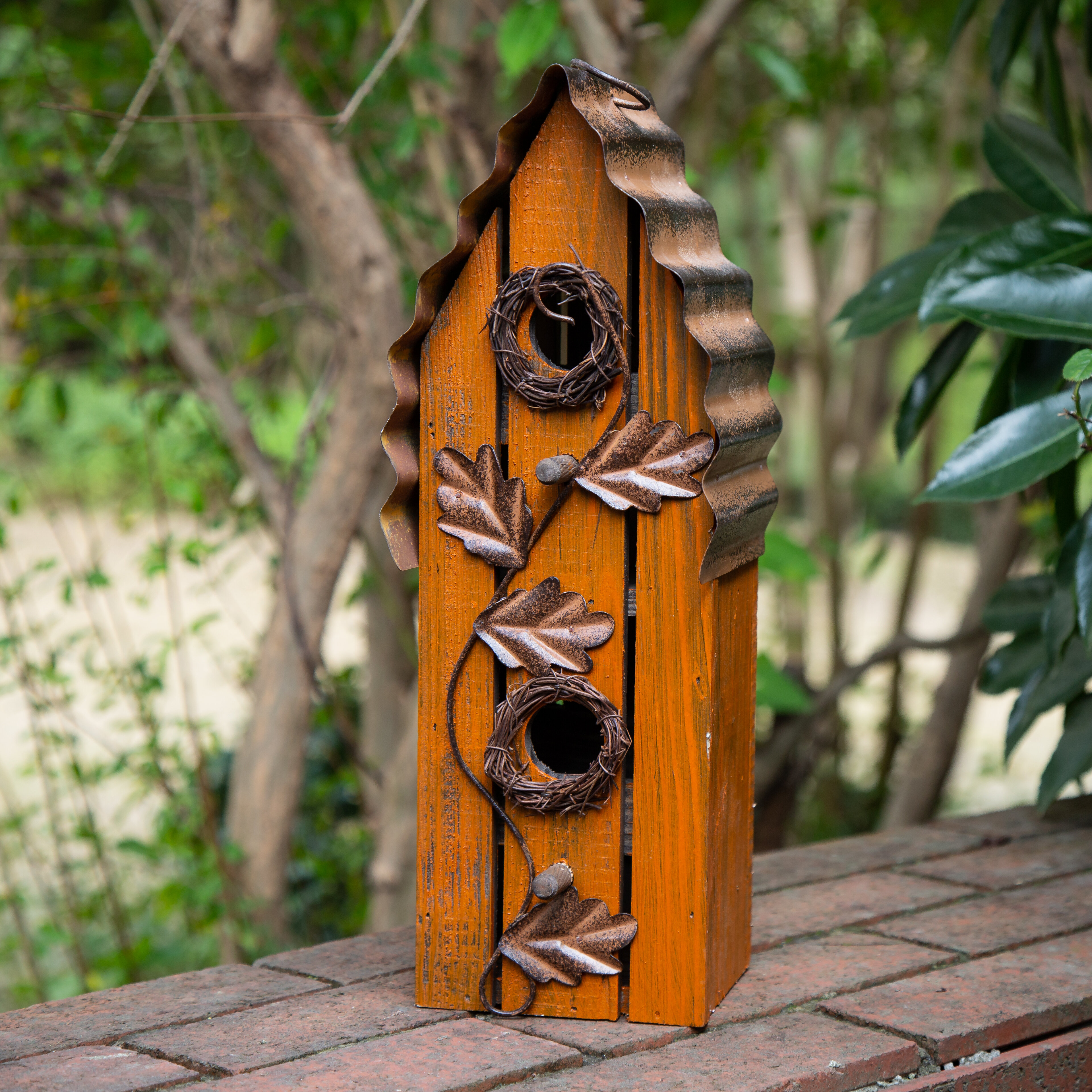 Glitzhome 14 In X 5 In X 5 In Birdhouse Reviews Wayfair