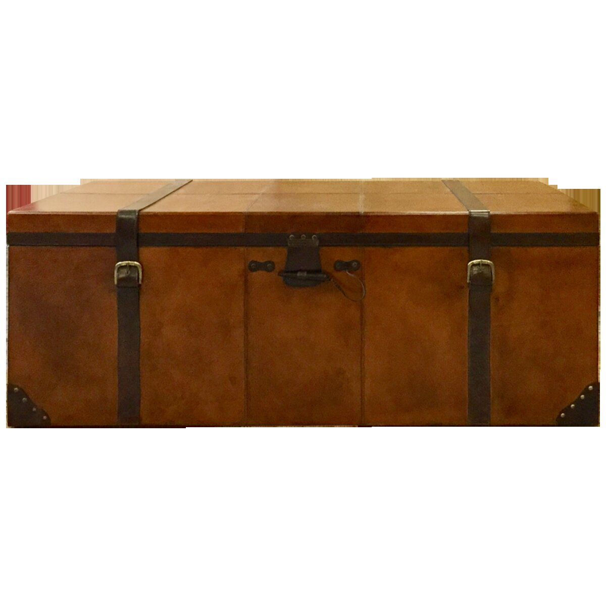 Asuncion Leather Trunk By Canora Grey