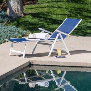Orren Ellis Eduardo Padded Sling Reclining Chaise Lounge