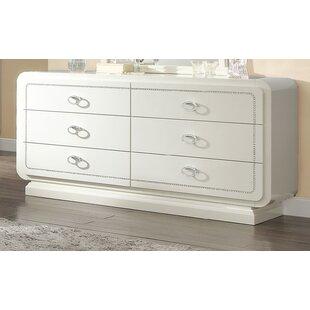 Everly Quinn Gilleland 6 Drawer Double Dresser