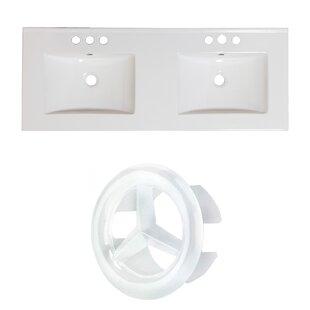 Affordable Ceramic 59 Double Bathroom Vanity Top ByAmerican Imaginations