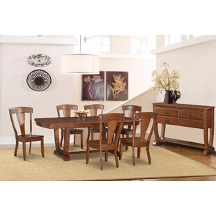 Bracamonte 8 Piece Solid Wood Dining Set by Canora Grey Great price