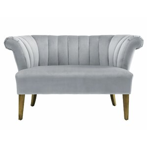 Edite Iris Velvet Settee by Willa Arlo Interiors