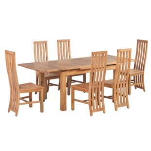 Arreola 7 Piece Extendable Solid Wood Dining Set by Loon Peak