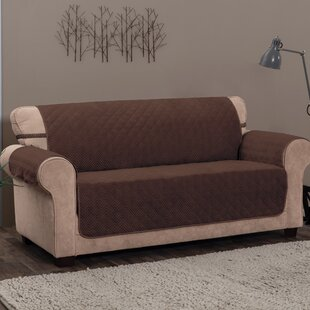 Alcott Hill T-Cushion Sofa Slipcover with Straps