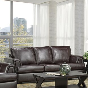 Genial Royal Cranberry Italian Leather Sofa