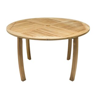 Lambeth Teak Dining Table by Millwood Pines 2019 Coupon