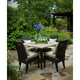 Somerby 5 Piece Dining Set with Sunbrella Cushions