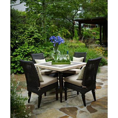 Somerby 5 Piece Dining Set With Sunbrella Cushions by Inspired Visions 2020 Online
