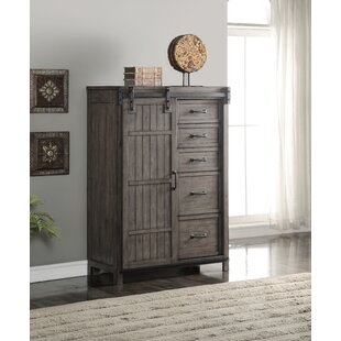 Gracie Oaks Jigna 5 Drawer Combo Dresser