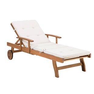 Attar Reclining Sun Lounger With Cushion Image