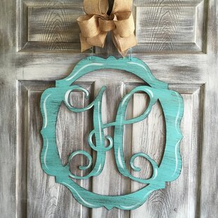 Mirror Initial Door Line Hanging Sign By Le Prise