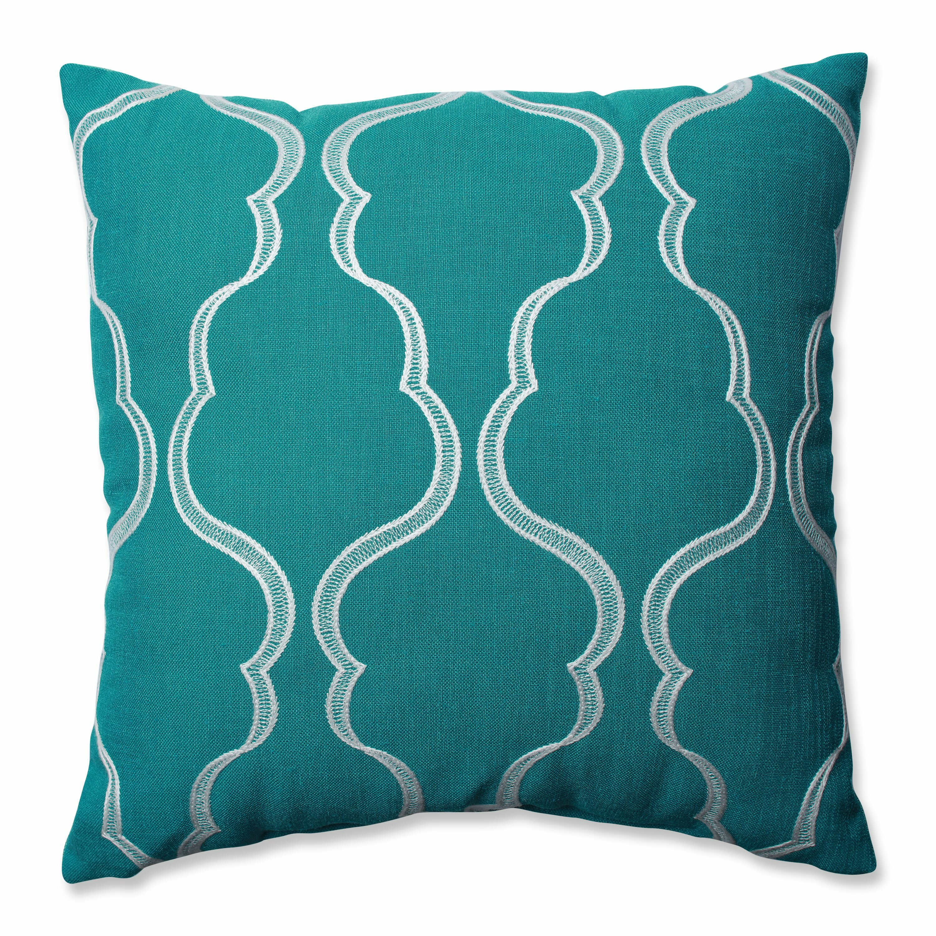 Wayfair Teal Throw Pillows : Pillow Perfect Cassie Throw Pillow & Reviews Wayfair