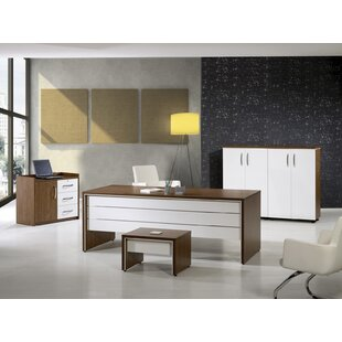 Corrigan Studio Neriah Modern 4 Piece Desk Office Suite