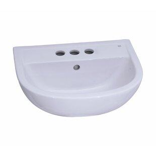 Barclay Vitreous China Circular Pedestal Bathroom Sink with Overflow