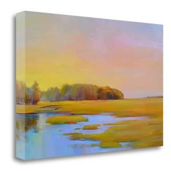 East Urban Home Summer Marsh Ii Painting On Wrapped Canvas Wayfair