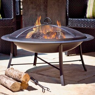 Steel Wood Burning Fire Pit By Jeco Inc.