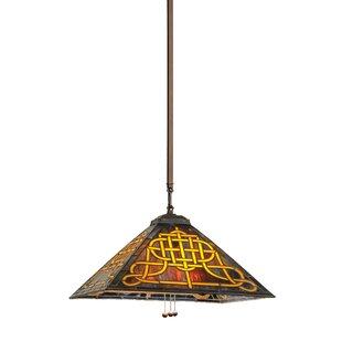 Meyda Tiffany Knotwork Mission 1-Light Dome Pendant