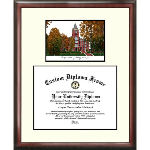 Campus Images Ncaa Georgia Institute Of Technology Scholar Lithograph Picture Frame Wayfair