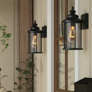Searching for Torrence 1-Light Outdoor Wall Lantern (Set of 2) By Laurel Foundry Modern Farmhouse