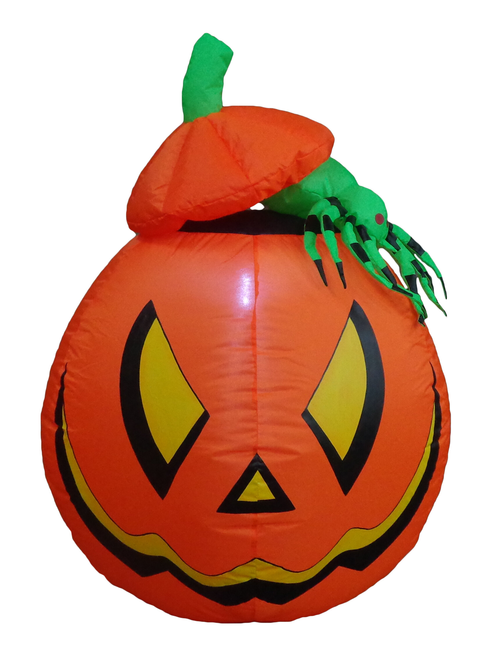 Image of: The Holiday Aisle Lighted Halloween Inflatable Pumpkin With Spider Indoor Outdoor Decoration Reviews Wayfair
