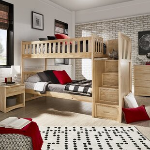 Spillane Staircase Twin Bunk Bed by Viv + Rae Discount