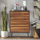 Schutt 4 Drawer Bachelor's Chest by Union Rustic