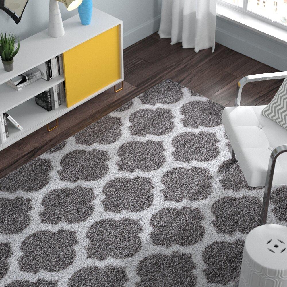 Zipcode Design Nannie Gray Area Rug Reviews Wayfair Inside Flats Cariana Navy 38